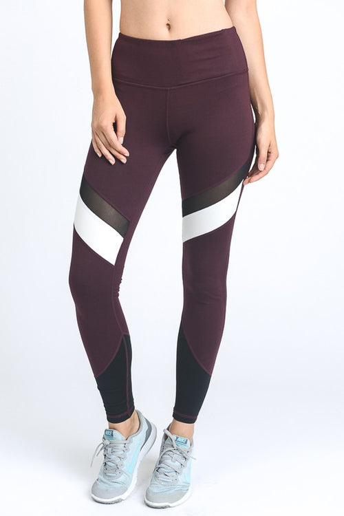 Rock That Body Burgundy Leggings - The Laguna Room