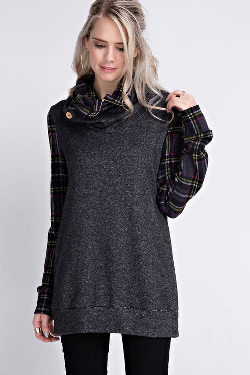 Beep Me 911 Plaid Tunic - The Laguna Room