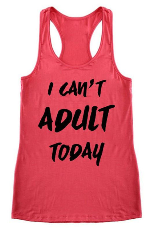 No Adulting Allowed Tank Top - The Laguna Room