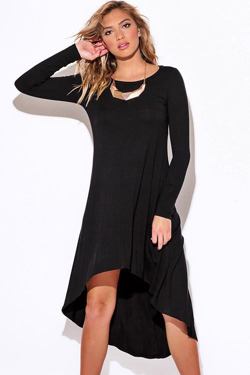 Back in Time Black High Low Dress - The Laguna Room