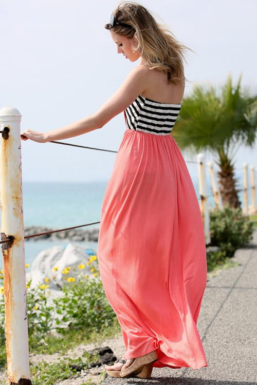 Best For Last Striped Maxi Dress - The Laguna Room