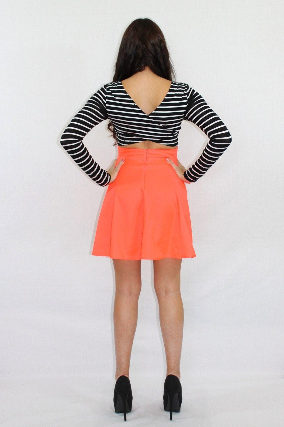 Double Take Striped Neon Dress - The Laguna Room