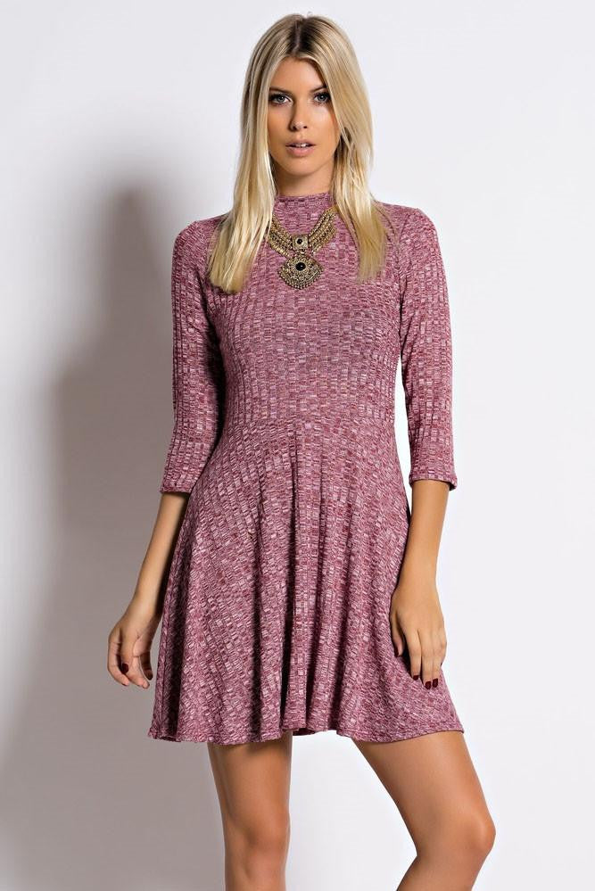 Hey Baby Knit Ribbed Skater Dress – The Laguna Room bf20882fb