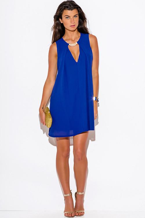 No Surrender Blue Swing Dress - The Laguna Room