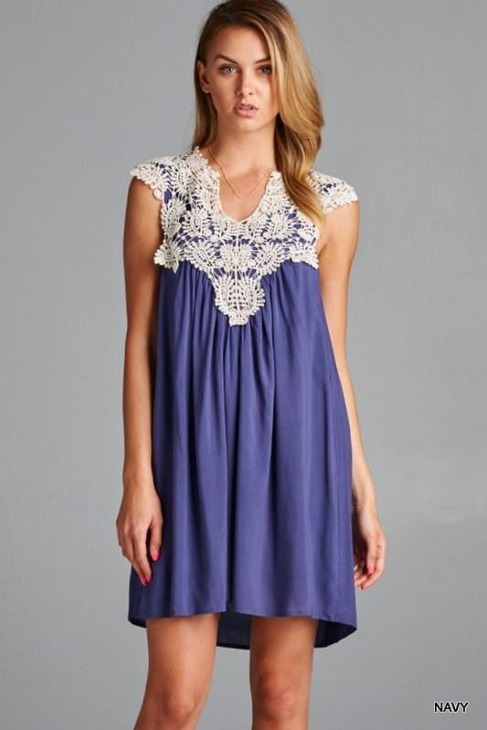 Ring The Alarm Lace Swing Dress - The Laguna Room
