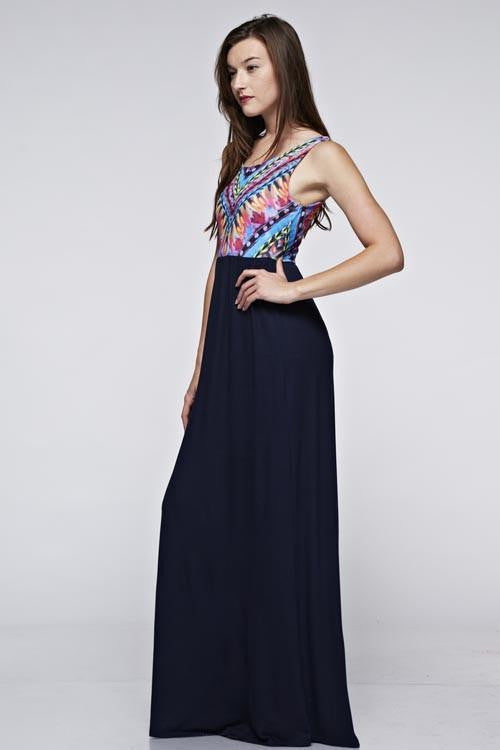Shout It Out Tribal Print Maxi Dress - The Laguna Room