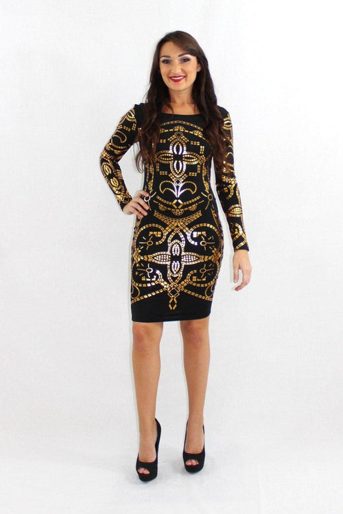 The Gold Digger Metallic Dress - The Laguna Room