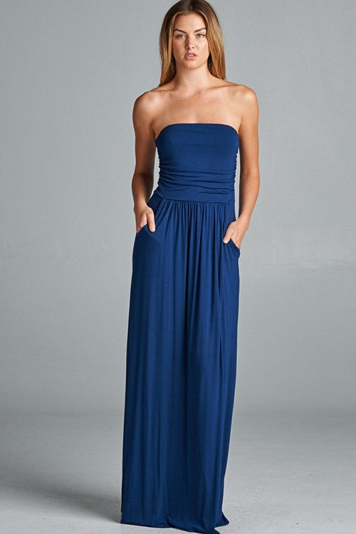 494040062a22 The Homecoming Strapless Knit Maxi Dress – The Laguna Room