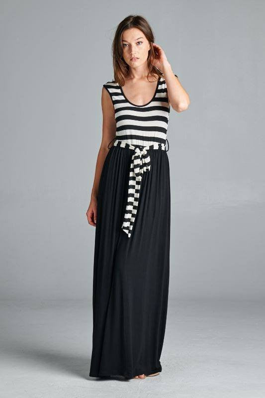Work For It Striped Maxi Dress - The Laguna Room