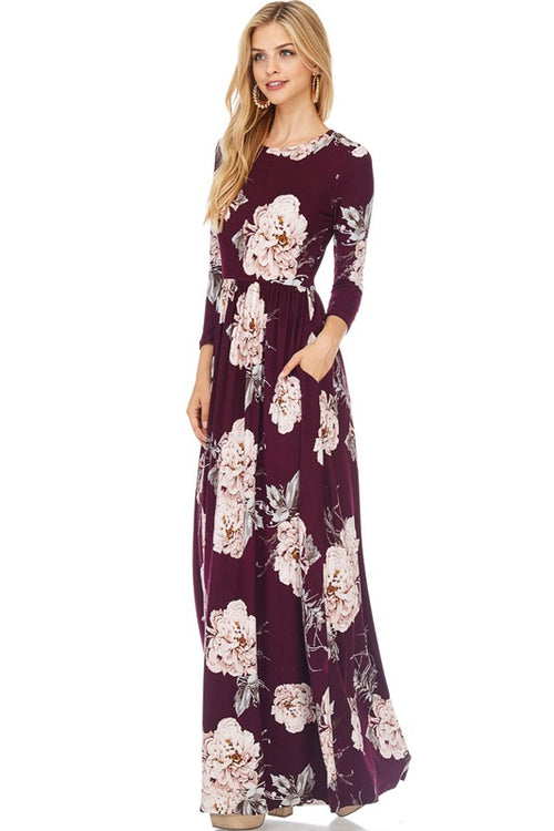 Making Moves Long Sleeve Maxi Dress - The Laguna Room