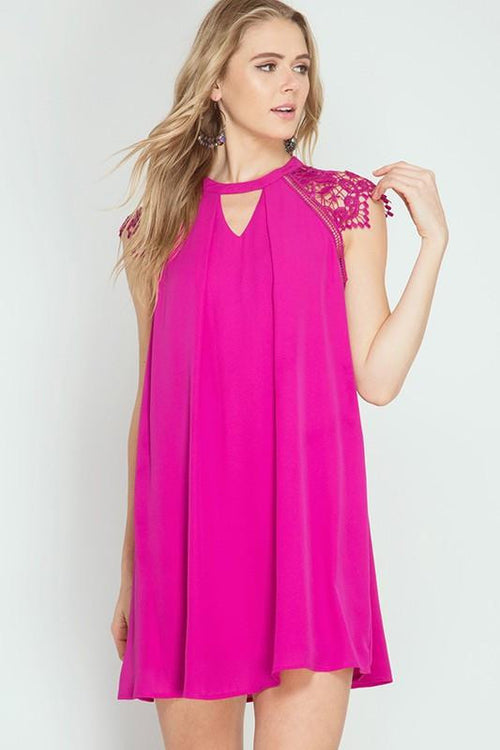 I'm In Here Fuchsia Swing Dress - The Laguna Room