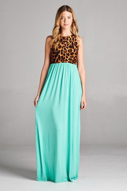 Needed You Animal Print Maxi Dress - The Laguna Room