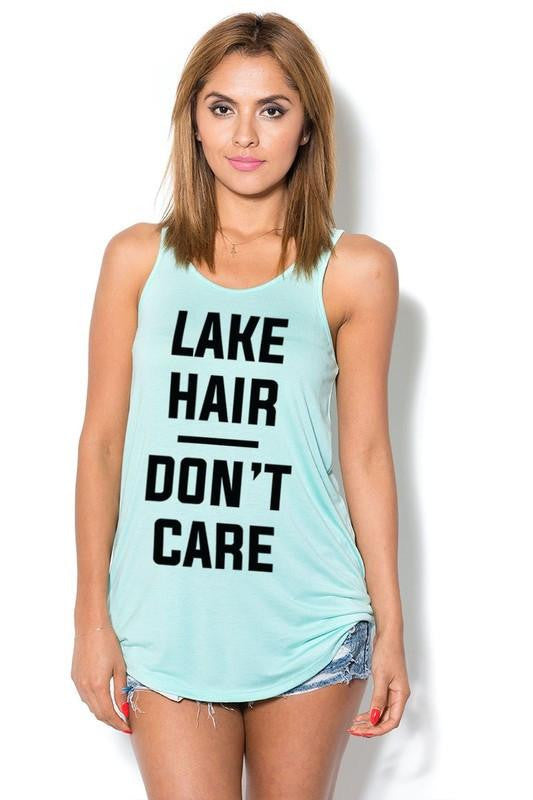 Lake Hair Don't Care Tank Top - The Laguna Room