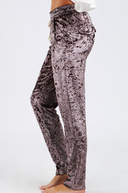 Fire It Up Crushed Velvet Sweatpants - The Laguna Room