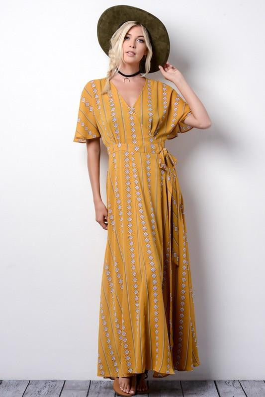 Love on the Brain Kimono Maxi Dress - The Laguna Room