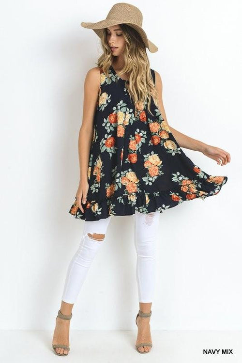Rock Their World Floral Tunic - The Laguna Room