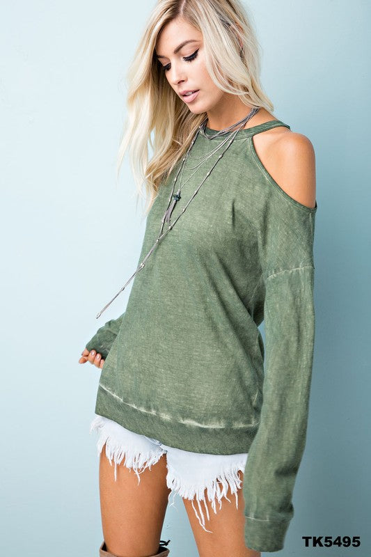 Whip Appeal Cold Shoulder Top - The Laguna Room
