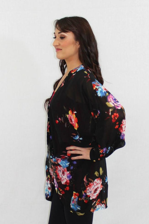 Forever Young Floral Sheer Cardigan - The Laguna Room