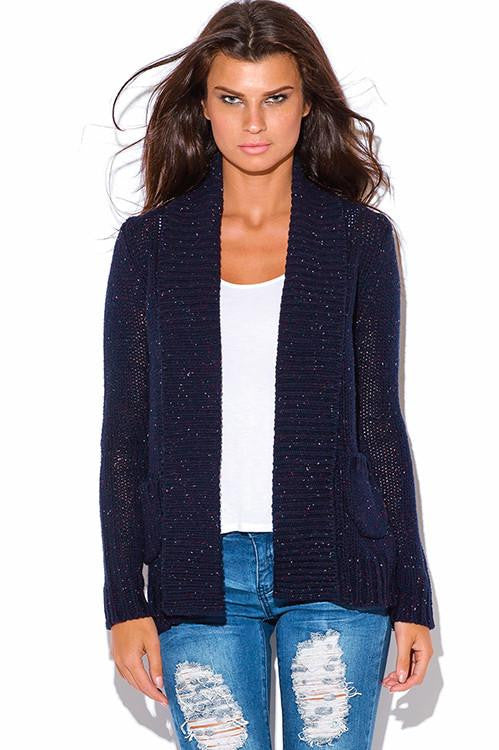 The Wrap Up Chunky Knit Blue Cardigan - The Laguna Room