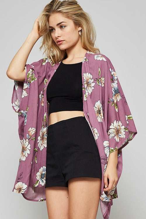 Work It Floral Kimono - The Laguna Room