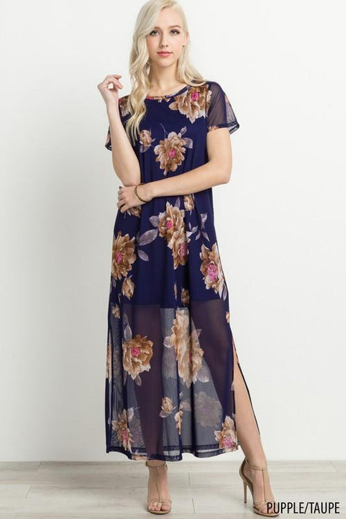 On the Other Side Sheer Maxi Dress - The Laguna Room