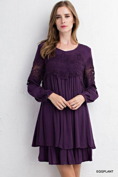 Cool Girls Long Sleeve Lace Dress - The Laguna Room