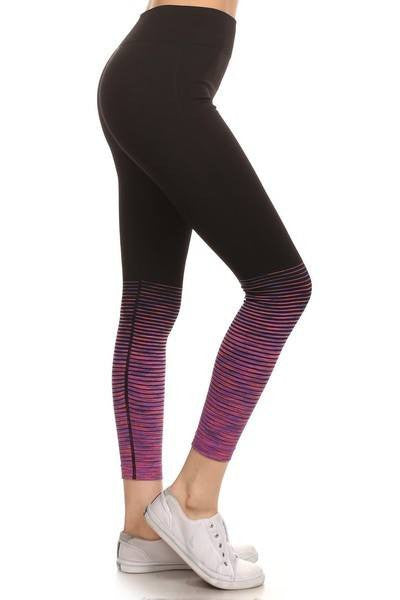 We Won't Listen Cropped Striped Leggings - The Laguna Room