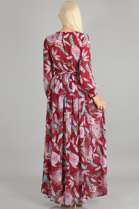 Bed of Roses Floral Maxi Dress - The Laguna Room
