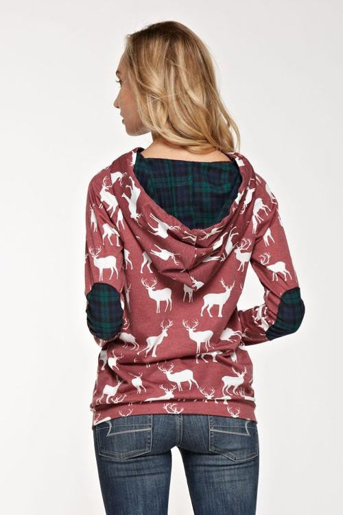 Sleigh All Day Reindeer Hoodie - The Laguna Room