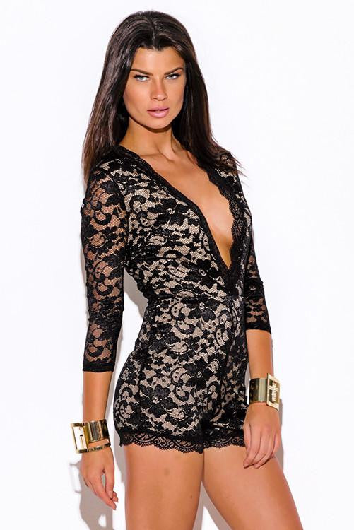 Get a Grip Fitted Lace Romper - The Laguna Room