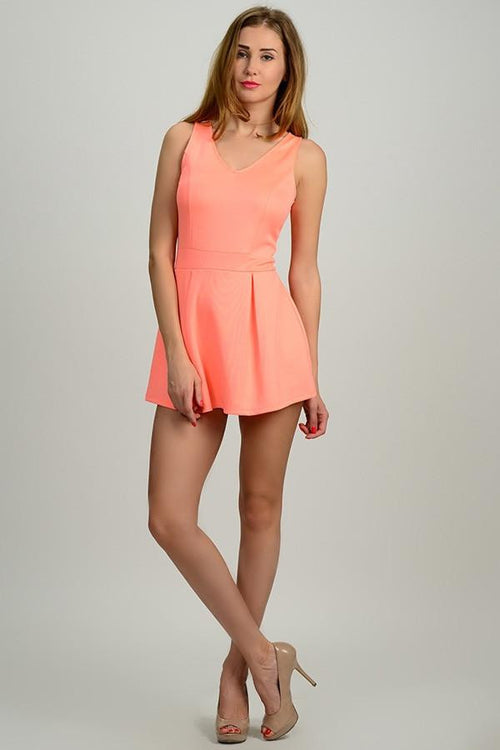 Neon Lights Neon Sleeveless Romper - The Laguna Room