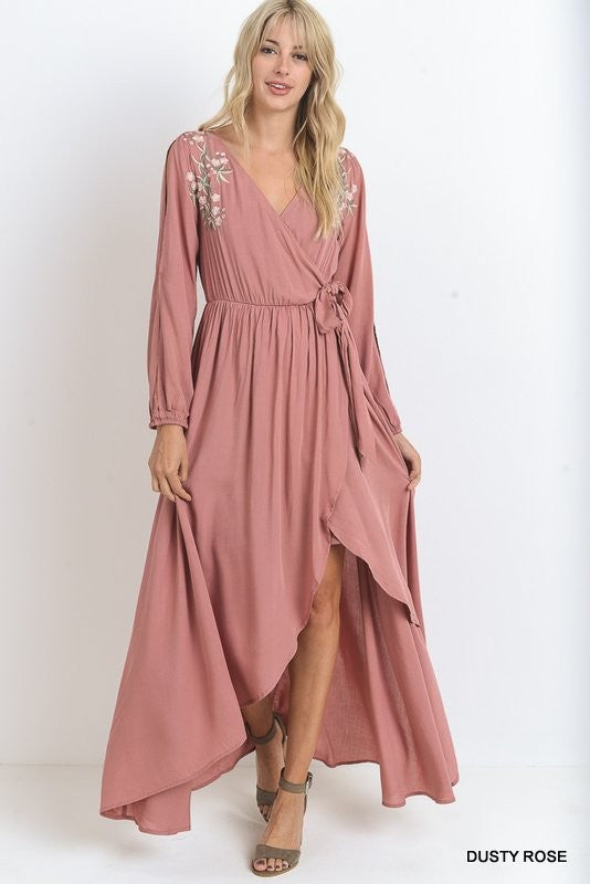 Time After Time Long Sleeve Maxi Dress - The Laguna Room