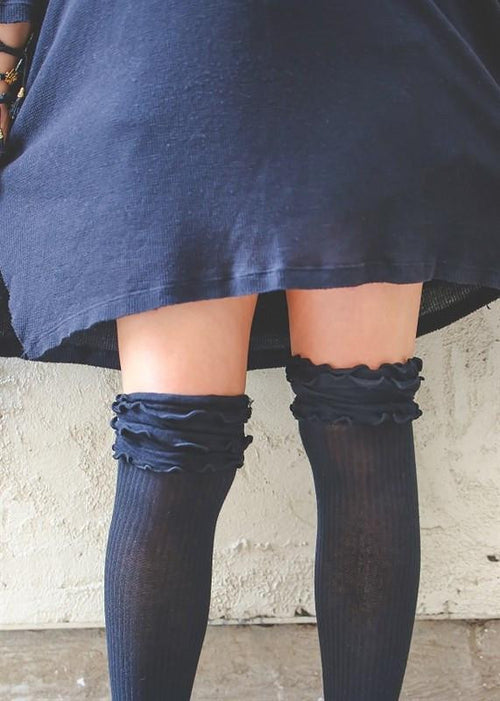 Just A Little Bit Ruffled Knee High Socks - The Laguna Room