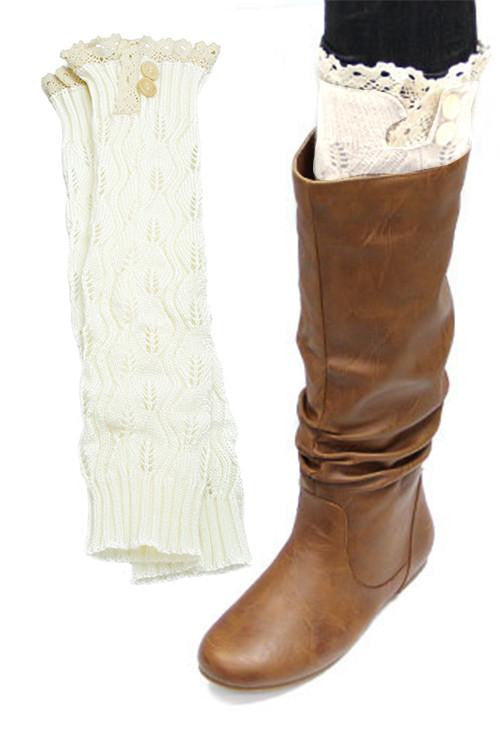 Once Upon A Time White Lace Boot Socks - The Laguna Room