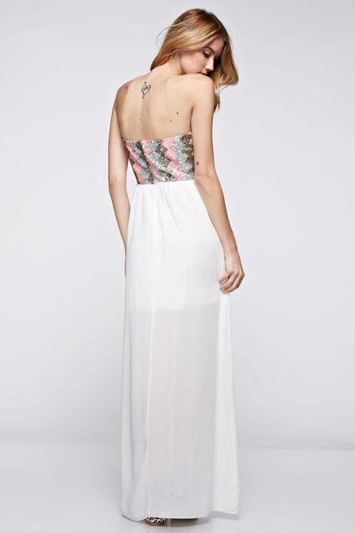 Heart Like Mine Strapless Sequin Dress - The Laguna Room