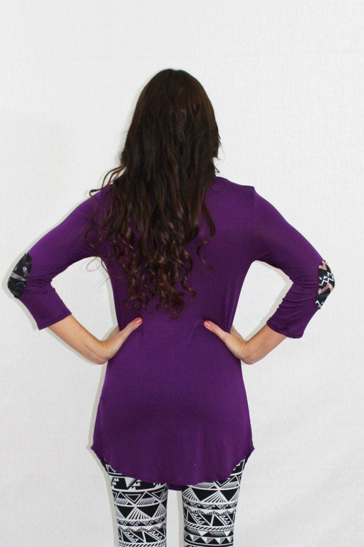 Queen Bee Purple Sequin Tunic Top - The Laguna Room