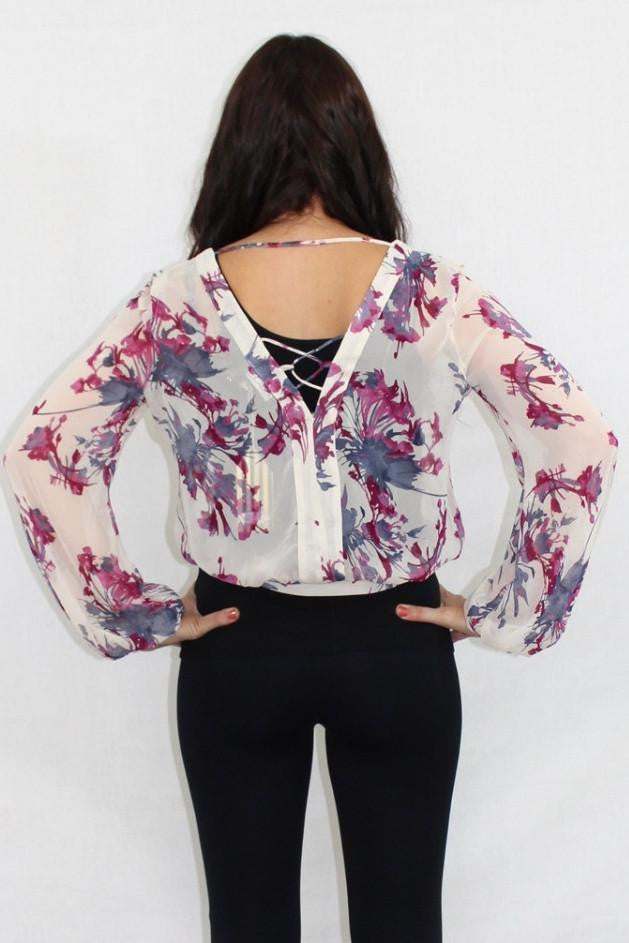 The Rundown Floral Wrap Top - The Laguna Room