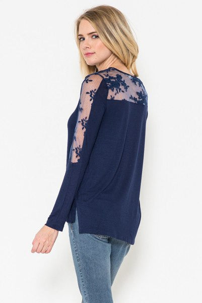 Wrap Me Up Black Lace Top - The Laguna Room