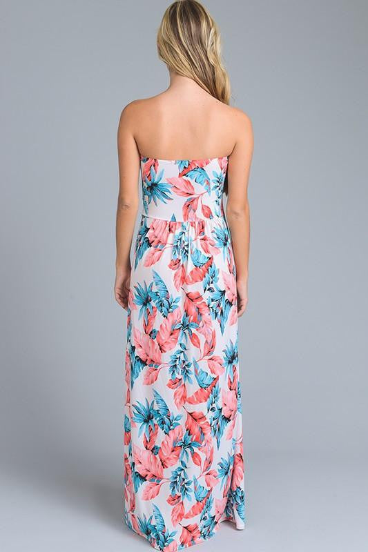 Tell Me Yesterday Tropical Maxi Dress - The Laguna Room