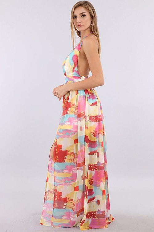 I'm Still Here Watercolor Maxi Dress - The Laguna Room