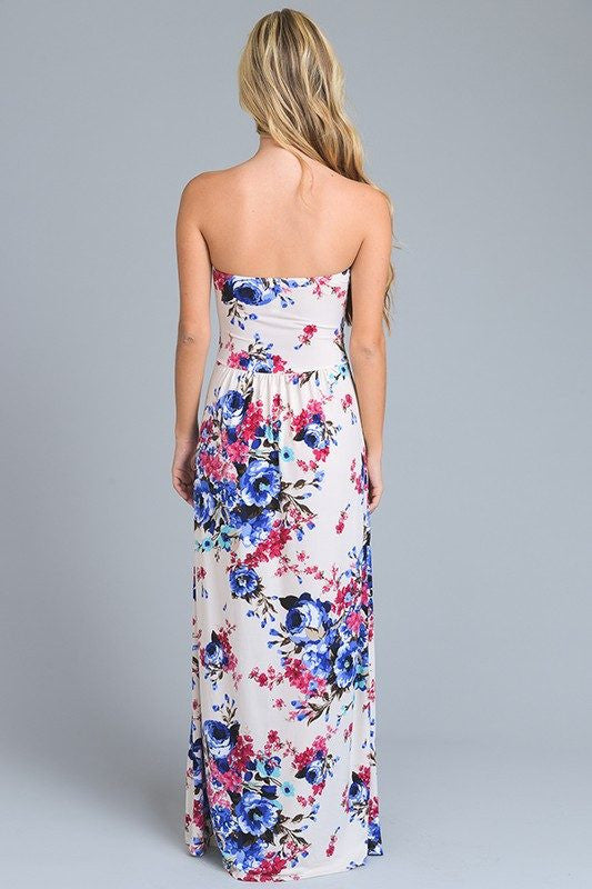 Thrive All Night Strapless Maxi Dress - The Laguna Room