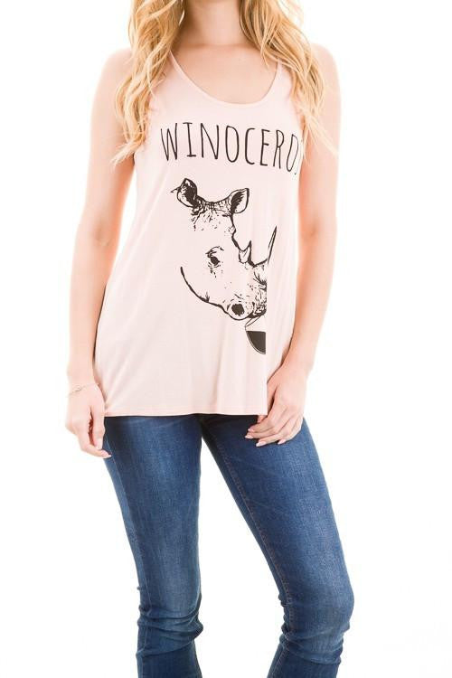 The Winoceros Sheer Tank Top - The Laguna Room