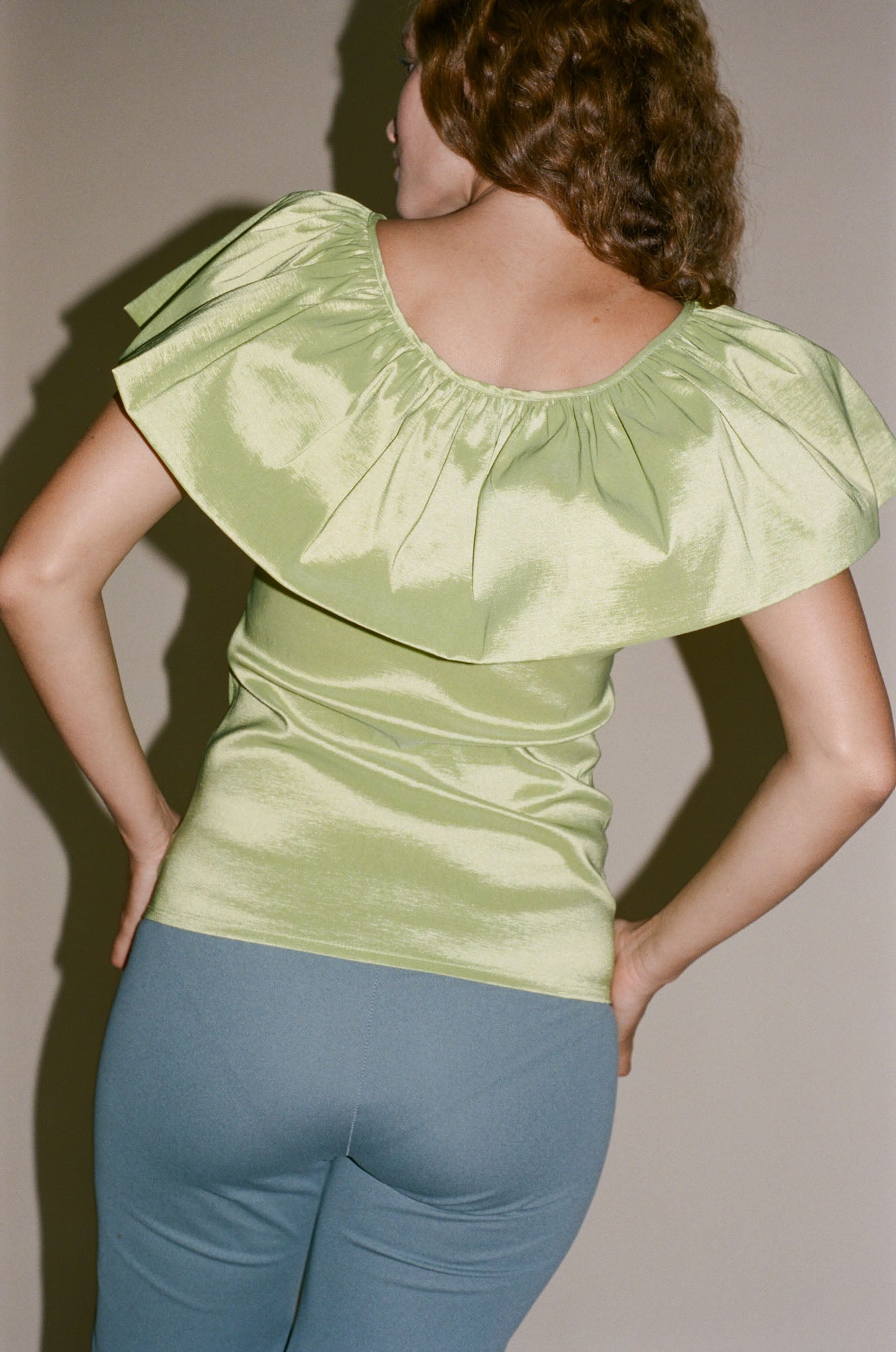 Maryam Nassir Zadeh Alina Top in Chartreuse
