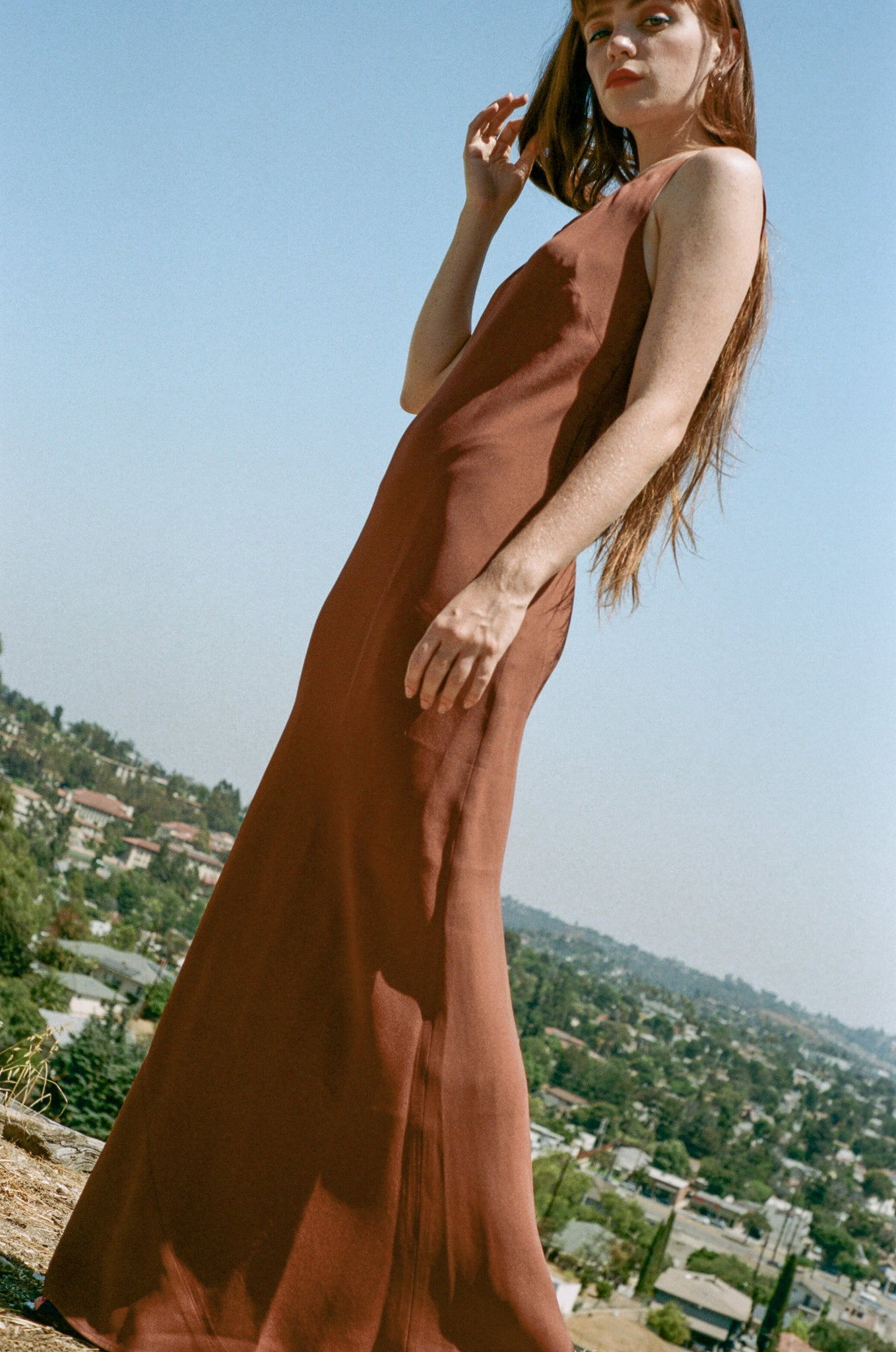 NOMIA Bias Tank Gown in Clay