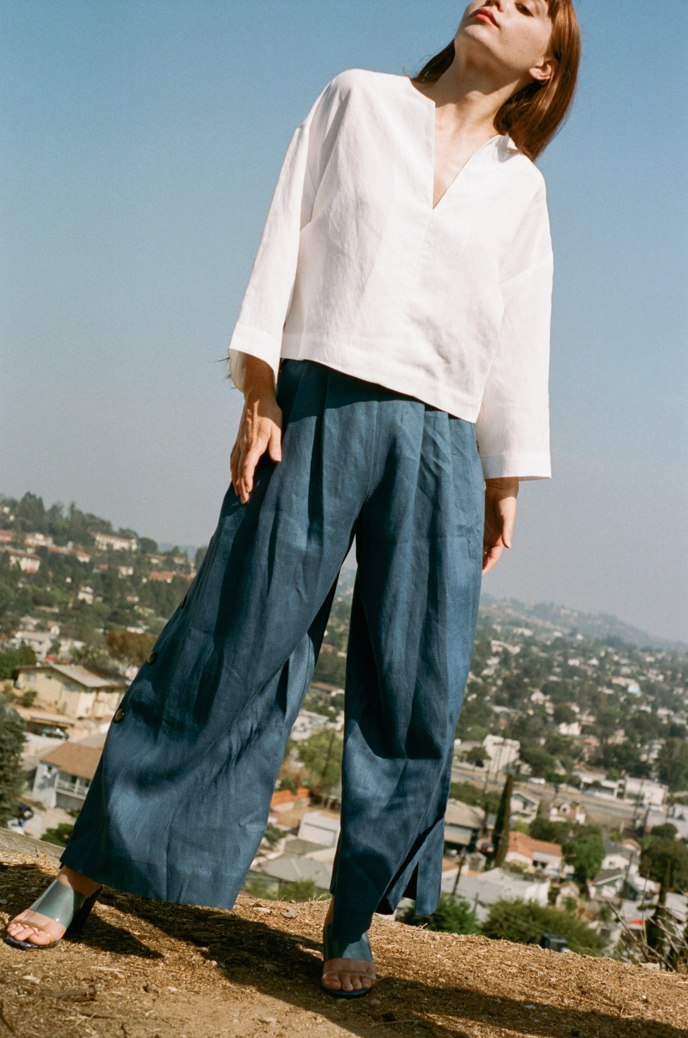 Mara Hoffman Angie Pant in Dark Blue