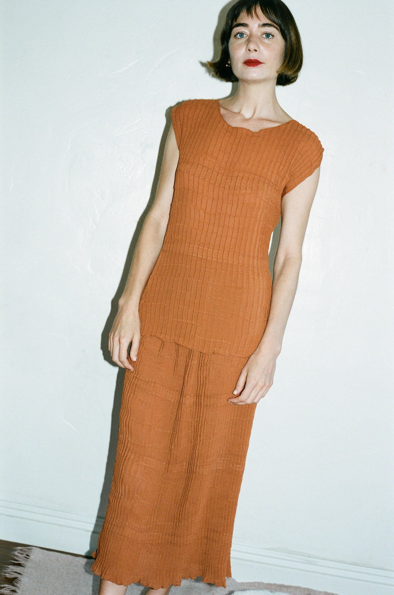 Renaissance Censor Top in Burnt Orange