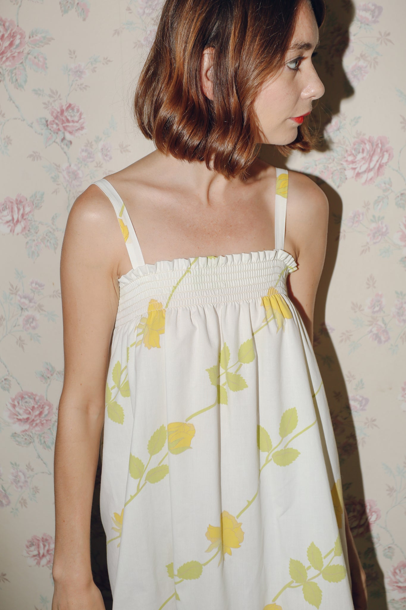 "The ""NONNA"" Dress in Yellow Rose"