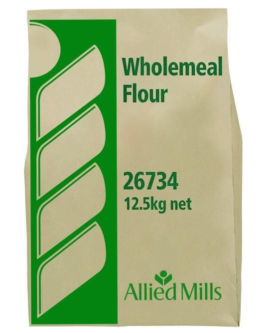 Flour Wholemeal Plain 12.5Kg Bag