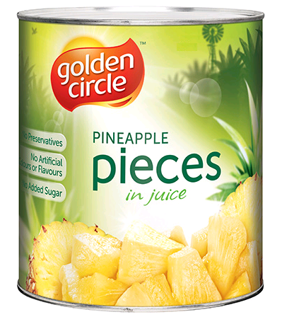 Pineapple Pieces Natural Juice 825Gr Can