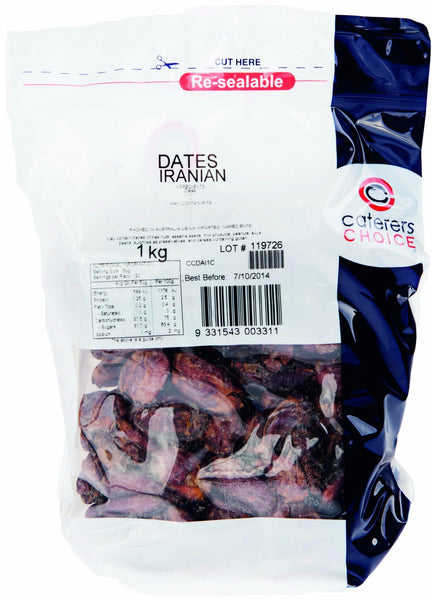 Dates Pitted Iranian 1Kg Pkt